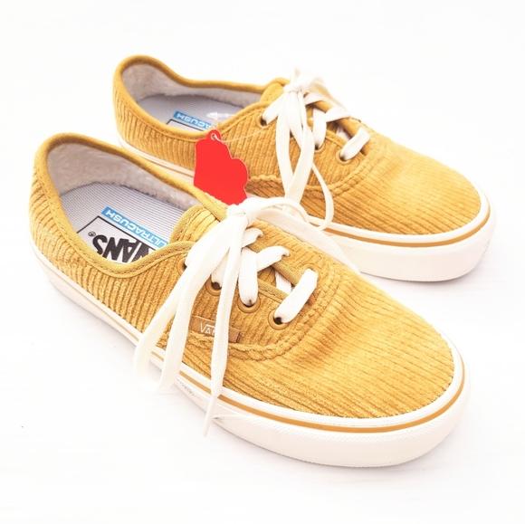 Vans Ultracush Yellow Corduroy Low Top